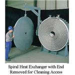 spiral heat exchanger with end off