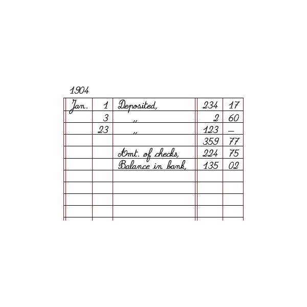 Bookkeeping-Back of Check Stubs