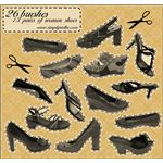 Shoes 13 pairs 26 brushes by thinkpastel