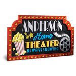 Home Theater Gift Ideas: Personalized Sign
