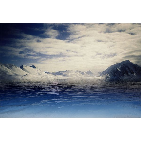 Spitsbergen Mountains After Water Effect Added