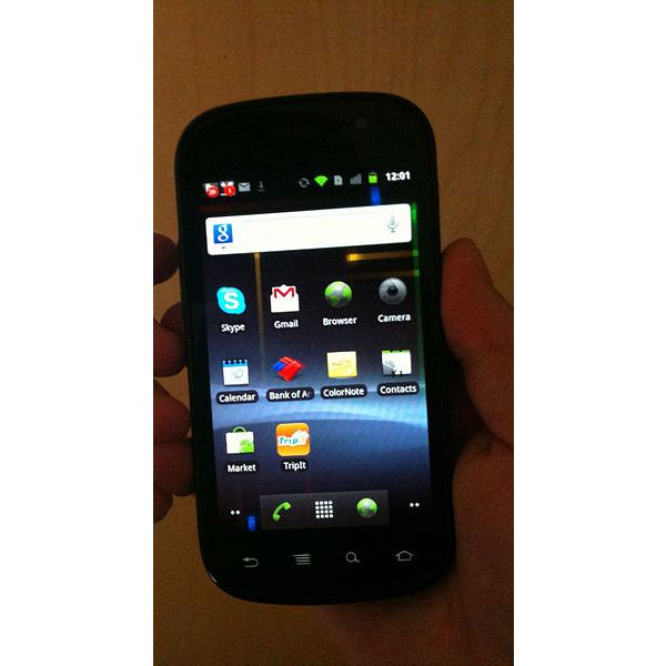 Android Gingerbread on Nexus S 4G