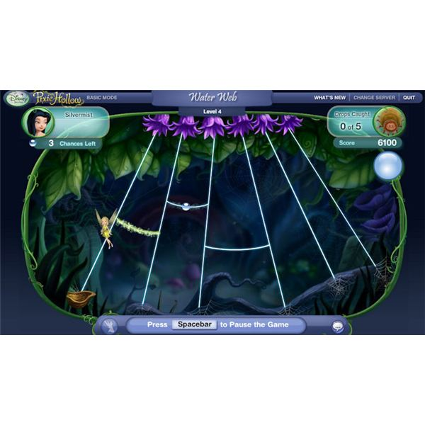 Pixie Hollow Games Water Web