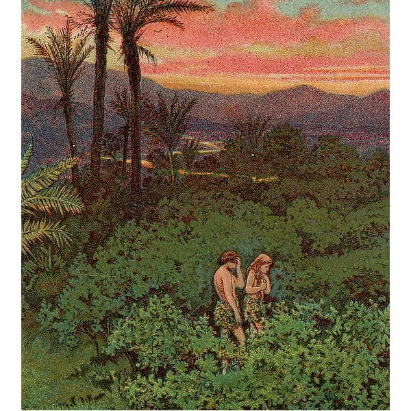 Adam and Eve - The Providence Lithograph Company / Public Domain