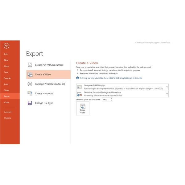 How to Save Your Powerpoint Presentation as a Video & Share in MS PowerPoint 2013
