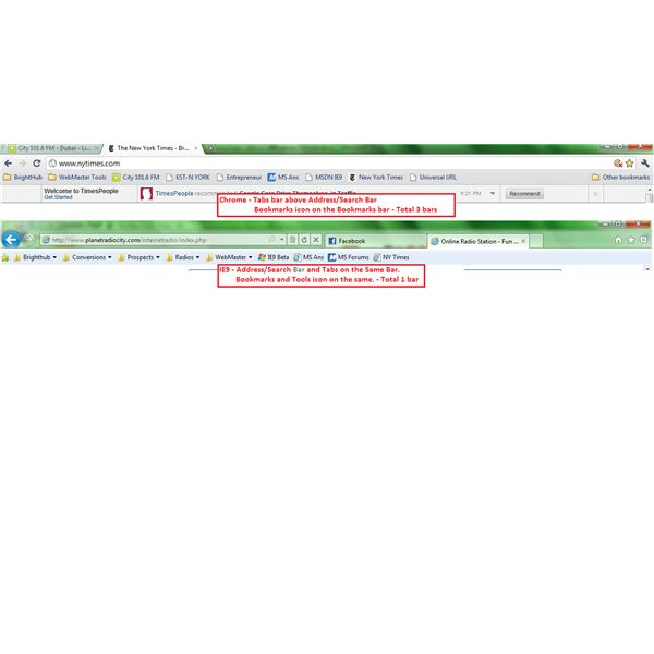 IE9 Vs Chrome - Comparing the UI - Things You May Have Missed In IE9