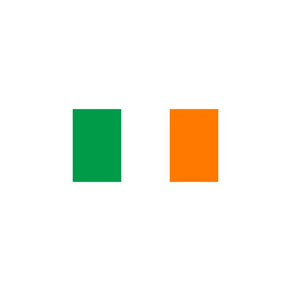Flag of Ireland from Wikipedia