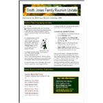Family reunion newsletter template.