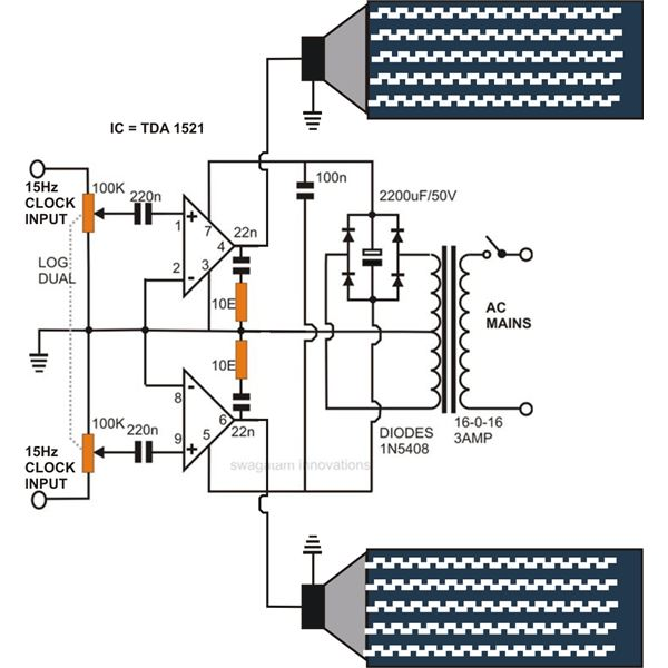 Infra Sound Generator Circuit Diagram, Image.