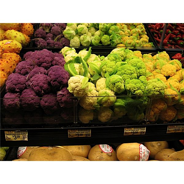 Green and Purple Broccoli by Greg Yamane
