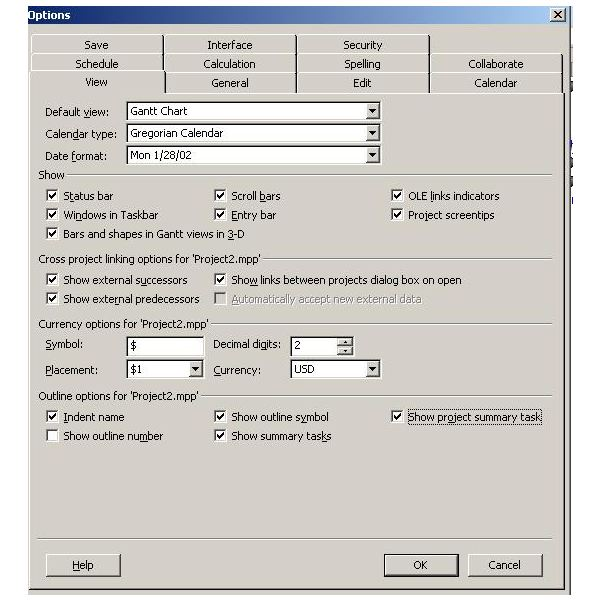 See an Example of a Budget in Microsoft Project
