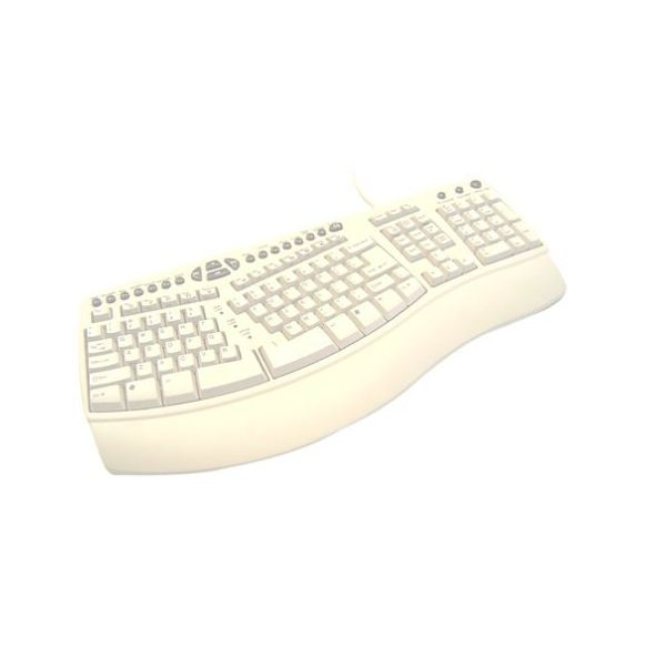 Adesso Flat Split-Key Ergonomic Media Office Pro Keyboard
