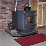 Pellet stove with kettle