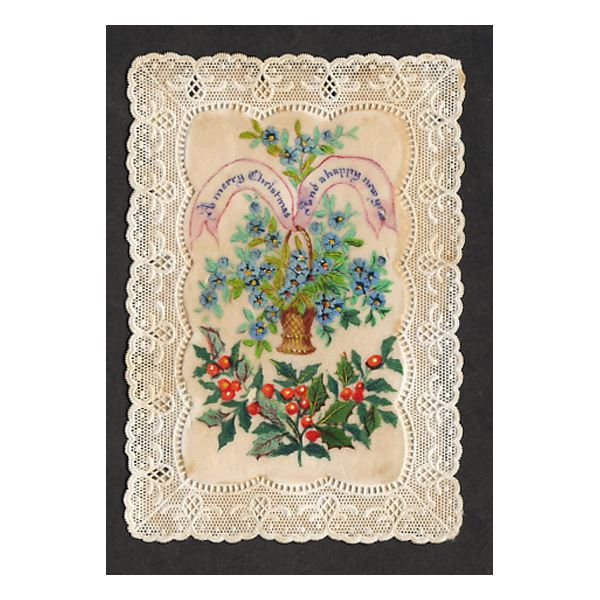 Greeting Card Christmas Victorian 1870