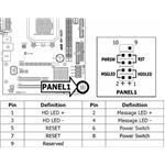 A common but by no means definitive motherboard JFP1 array