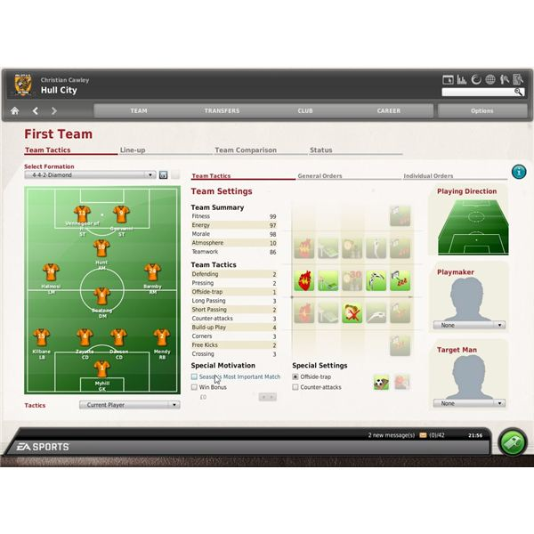Advanced Tactics in FIFA Manager 10