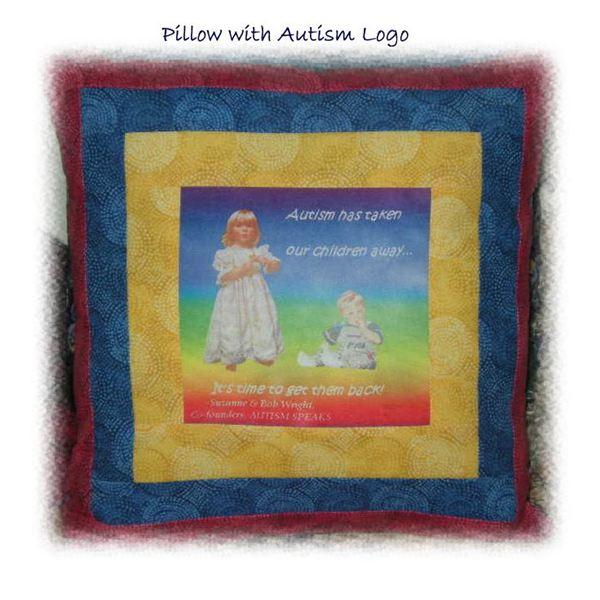 Pillow to Promote Autism Awareness