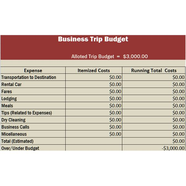 travel business template in excel free download