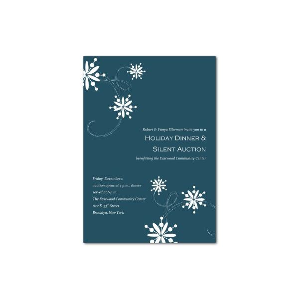 holiday dinner and auction invitation - Free Christmas Party Invitation Templates