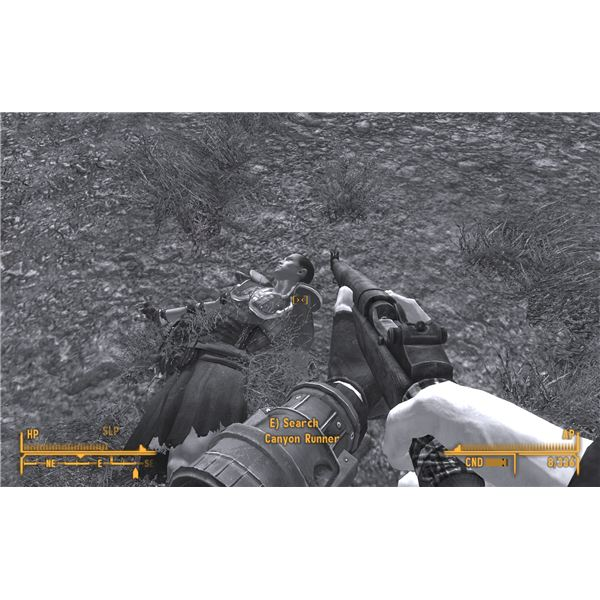 Fallout: New Vegas Walkthrough - Left My Heart - Canyon Runner (It's Black and White Because I Have a Concussion)