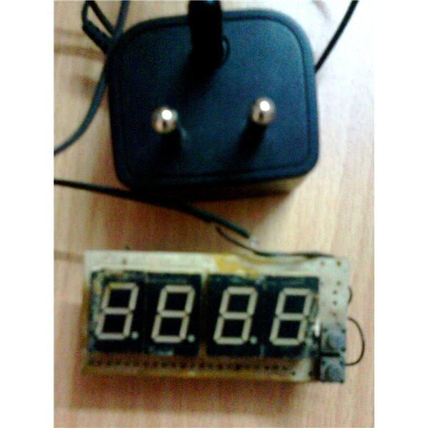 Digital Clock, Side View (2)
