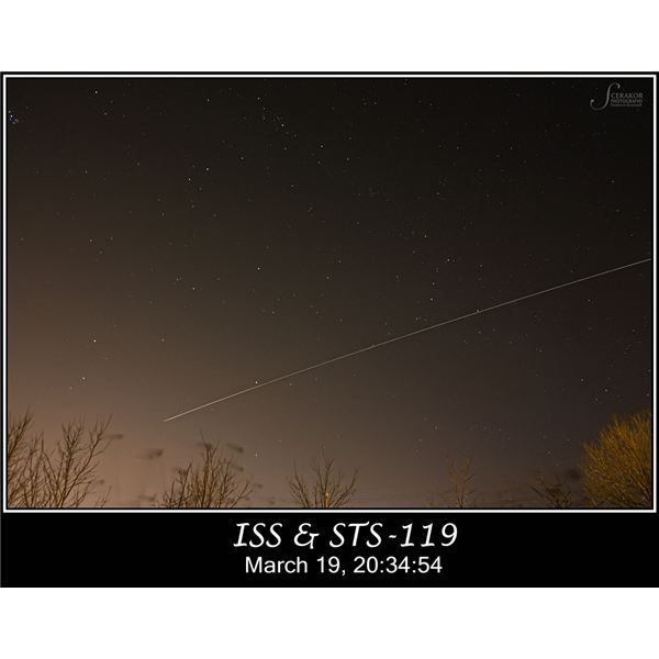 Pin-Point Stars ISS