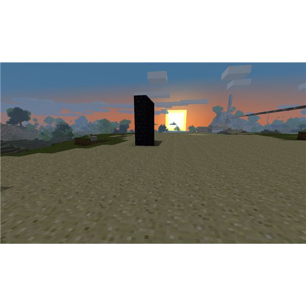 Minecraft Sunset
