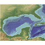 Gulf of Mexico shown in 3D