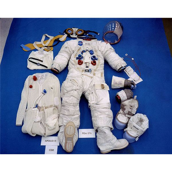 Space suit parts including the protective gloves for the for Space suit fabric