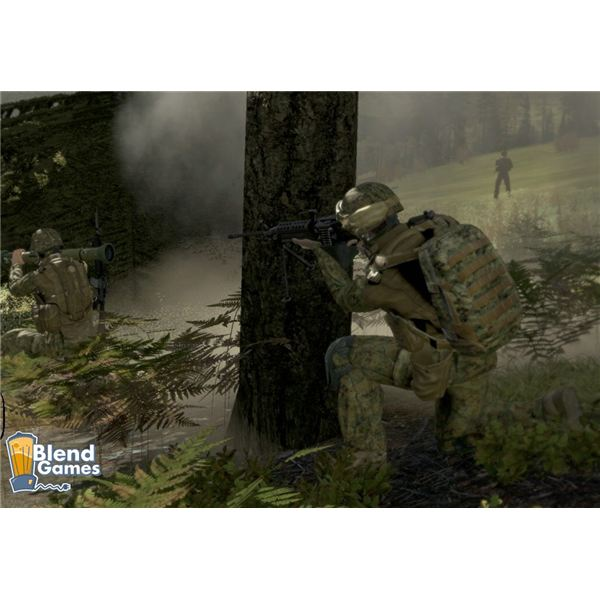 Using the tree for cover fire