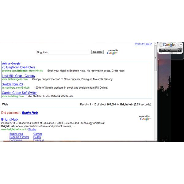 MultiSearchIT Search Gadget for Windows 7