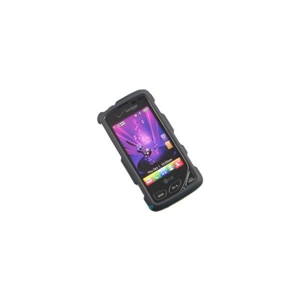 LG Chocolate Touch VX8575 Black Rubber Feel Hard Case Cover