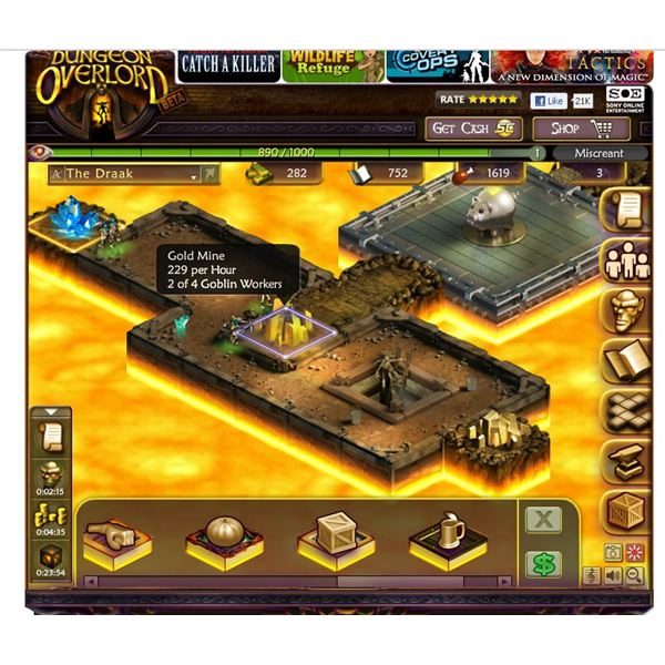 Facebook Games: Dungeon Overlord Game Guide