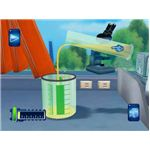 Science Papa has a cartoon-like presentation that includes a laboratory full of useful equipment