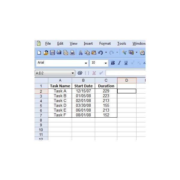 Make a Gantt Chart in Quattro Pro X4 - Detailed Instructions with Screenshots