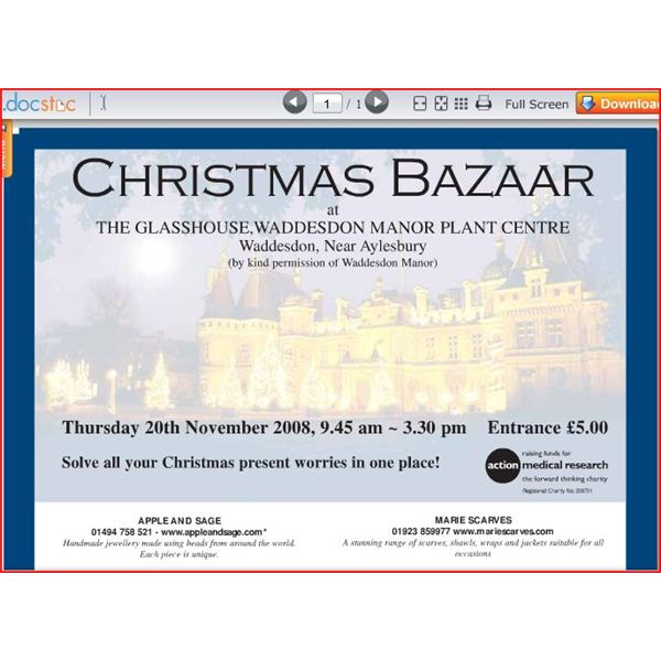 christmas bazaar flyer make your own easily with these resources