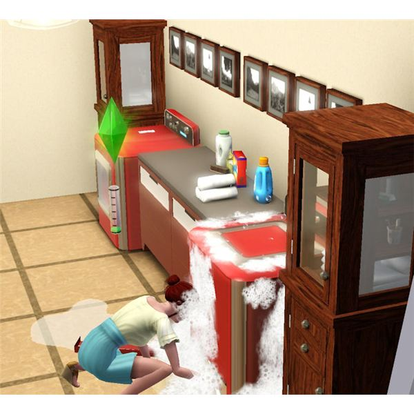 The Sims 3 Fixing Broken Washing Machine