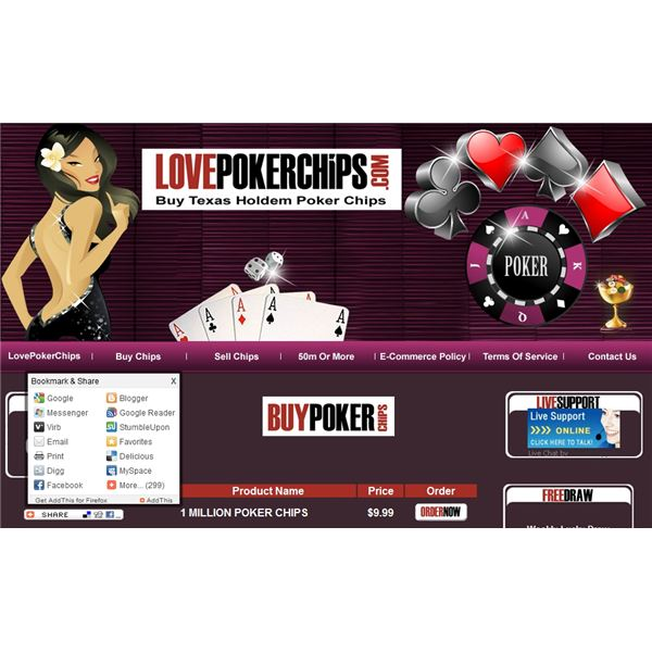 Facebook Poker Chips Online at Chipseller