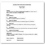Organization Meeting Minutes