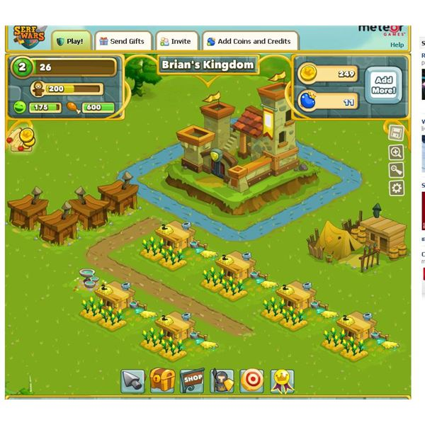 Serf Huts Group: Serf Wars Review: Medieval City Game On Facebook