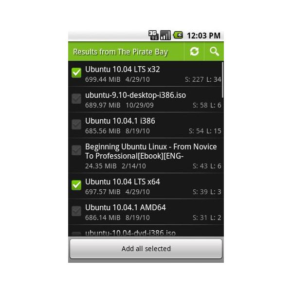 Torrent Search Android App