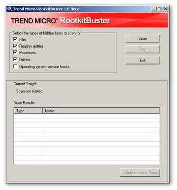 TrendMicro Rootkit Buster