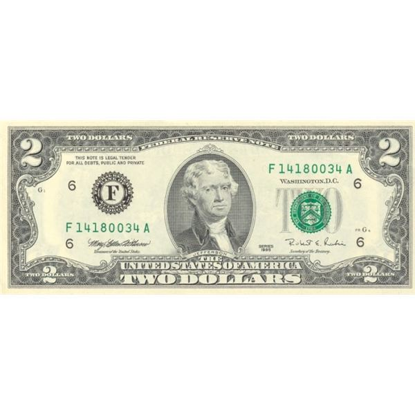 Obverse Image of a Two Dollar Bill