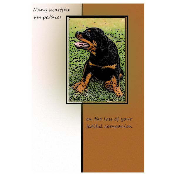 Express your love for the owner and dog in sympathy cards