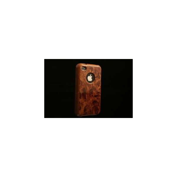 Handcrafted Bubinga Burl Case for iPhone 4