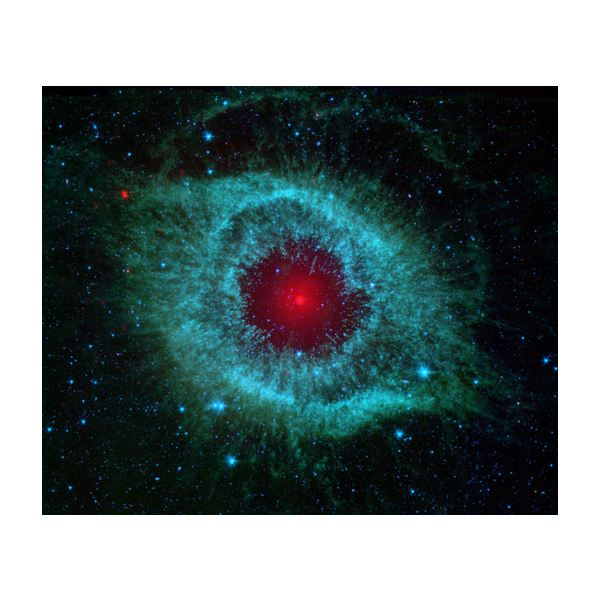An Infrared Image of the Helix Nebula from the Spitzer Space Telescope