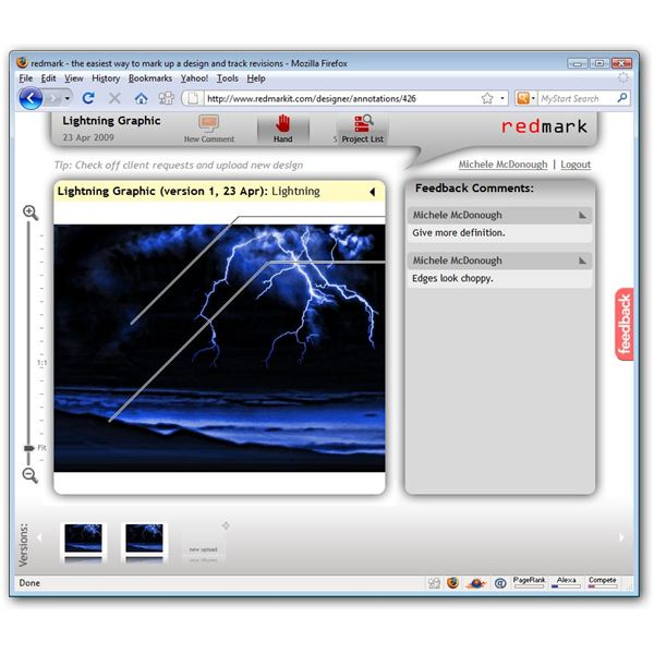 Redmark User Interface