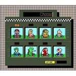 Super Mario Kart features a colorful cast of racers from throughout the Mario universe.