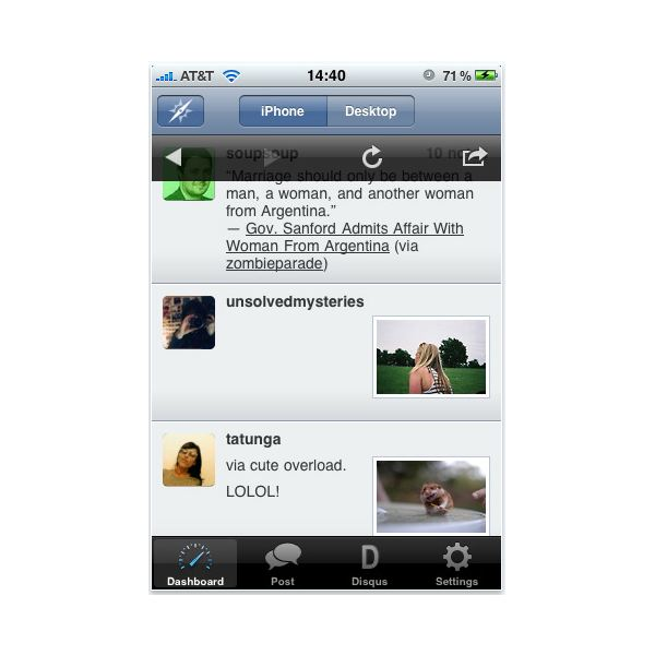 Tumblr iPhone Apps Round-Up