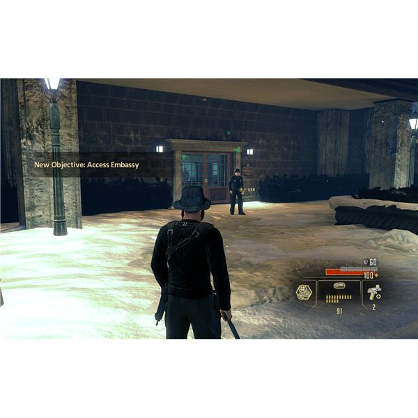 Alpha Protocol Walkthrough - Entering the US Embassy - Getting Past the Marines